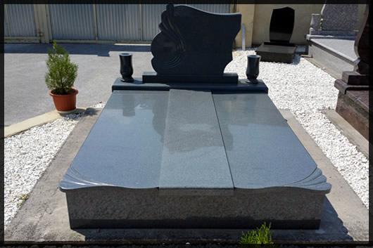Gránit - márvány síremlék készítése